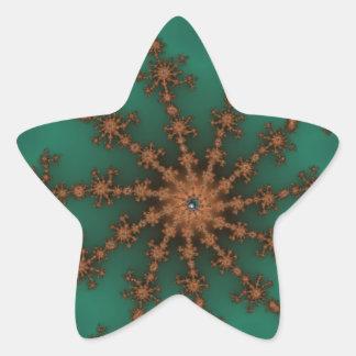 Explosión verde del acontecimiento pegatina en forma de estrella