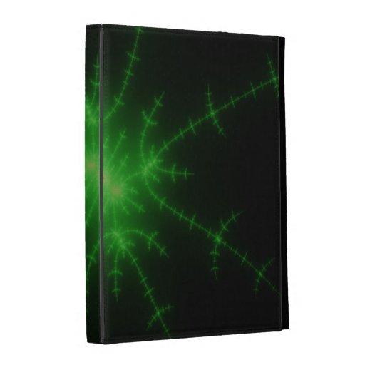 Explosión verde del fractal que brilla intensament