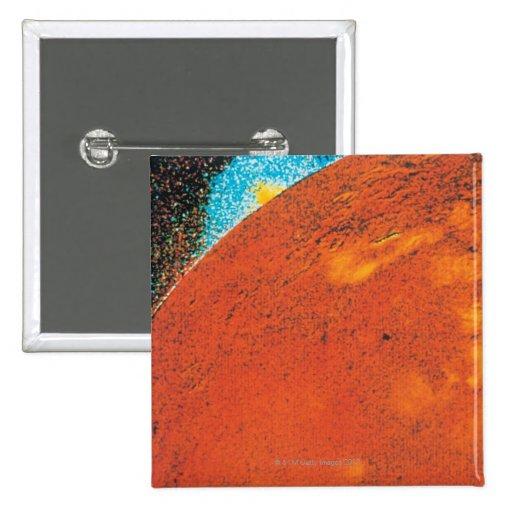 Explosión volcánica en el Io Pin Cuadrado
