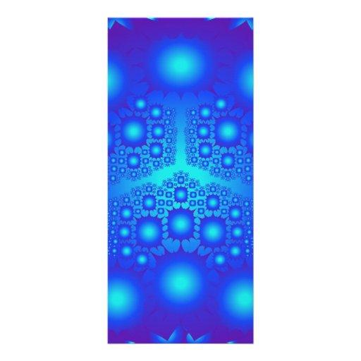 Explosiones azules del fractal: tarjetas publicitarias a todo color