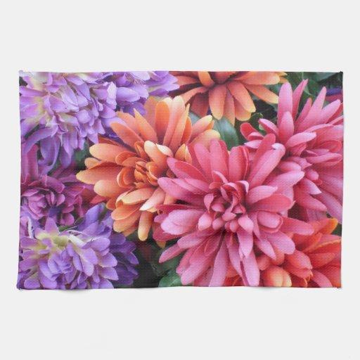 Explosiones de la flor toallas de cocina