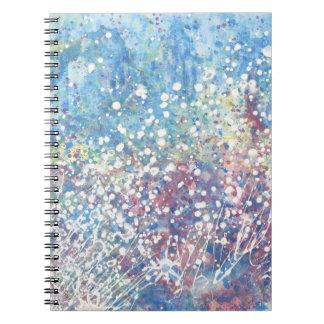 Explosiones de la tolerancia del iris de la libret spiral notebook