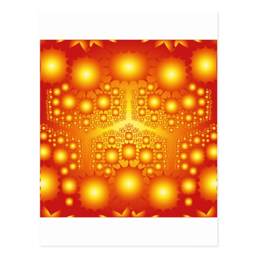 Explosiones del fractal del oro: postal