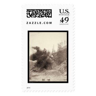 Explosive Blast for Deadwood Railroad SD 1890 Postage Stamp