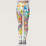 "Explosive bubble print funky crazy pattern legging<br><div class=""desc"">fun and funky exploding bubble print in rainbow colours</div>"
