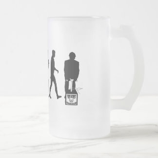 Explosive Demolition Miners Gear Frosted Glass Beer Mug