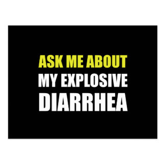 Explosive Diarrhea Postcard