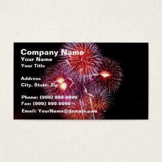 Explosive Fireworks Celebration Business Card