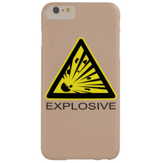 Explosive Hazard Sign Barely There iPhone 6 Plus Case