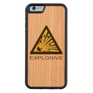 Explosive Hazard Sign Carved® Cherry iPhone 6 Bumper Case