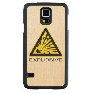 Explosive Hazard Sign Carved® Maple Galaxy S5 Case