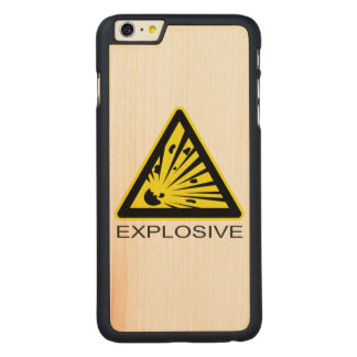 Explosive Hazard Sign Carved® Maple iPhone 6 Plus Case