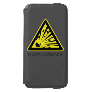 Explosive Hazard Sign iPhone 6/6s Wallet Case