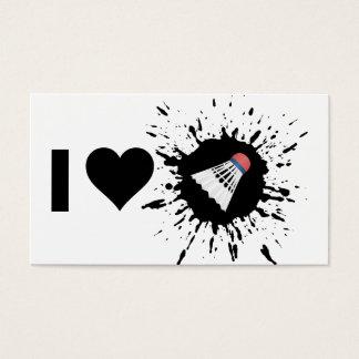 Explosive I Love Badminton Business Card