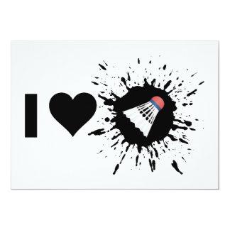 Explosive I Love Badminton Card