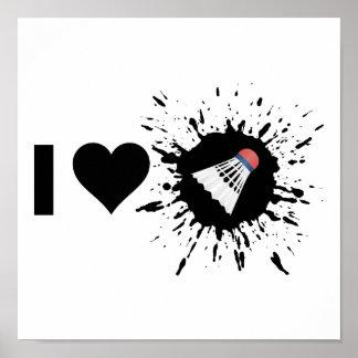 Explosive I Love Badminton Poster