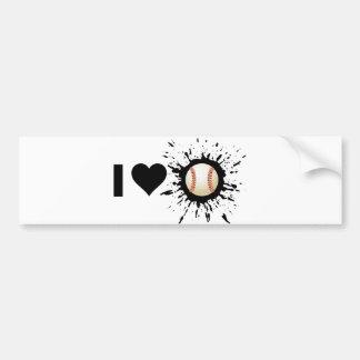 Explosive I Love Baseball Bumper Sticker