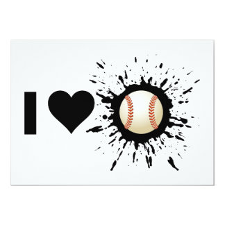 Explosive I Love Baseball Card
