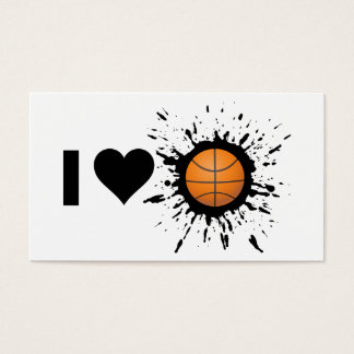 Explosive I Love Basketball Business Card