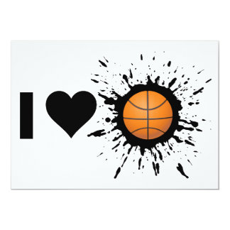 Explosive I Love Basketball Card