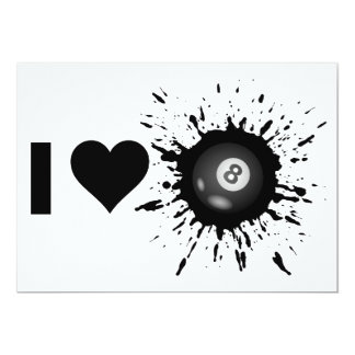 Explosive I Love Billiard Card