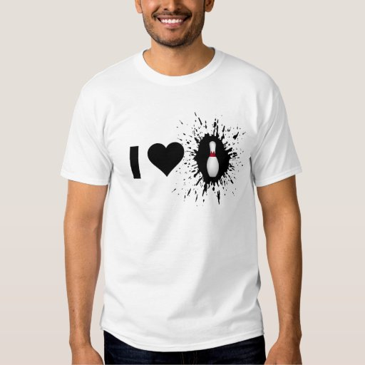Explosive I Love Bowling 2 T Shirts