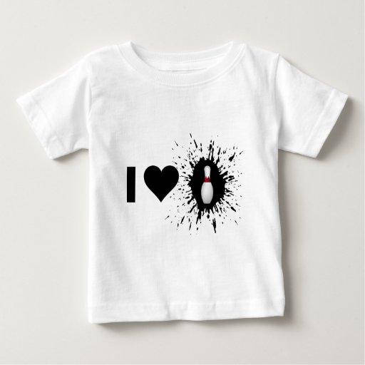 Explosive I Love Bowling 2 Tee Shirt