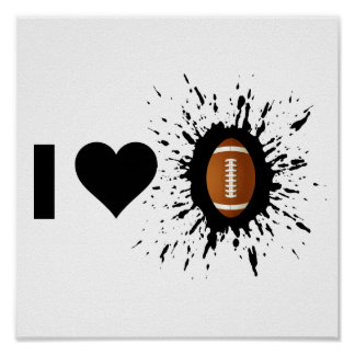 Explosive I Love Football Poster