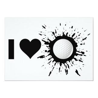 Explosive I Love Golf Card