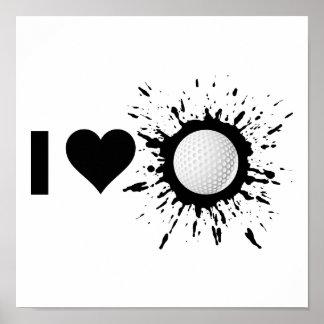 Explosive I Love Golf Poster