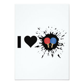 Explosive I Love Ping pong Card
