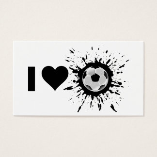 Explosive I Love Soccer Business Card