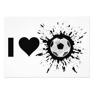 Explosive I Love Soccer Custom Invite