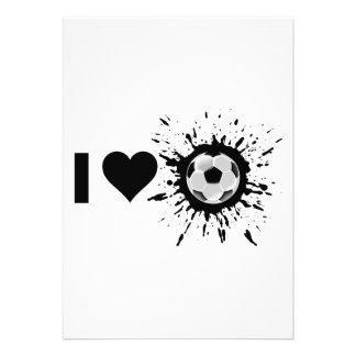 Explosive I Love Soccer Invitations