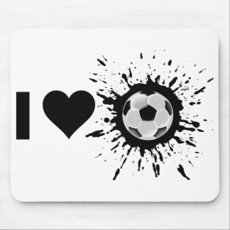 Explosive I Love Soccer Mouse Pad