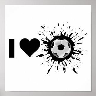 Explosive I Love Soccer Poster