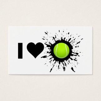 Explosive I Love Tennis Business Card