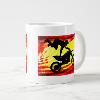 Explosive Motocross Jump Large Coffee Mug