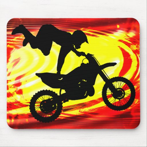 Explosive Motocross Jump Mouse Pad