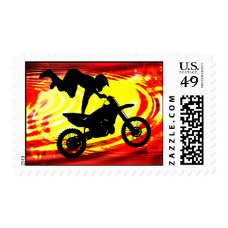 Explosive Motocross Jump Stamp
