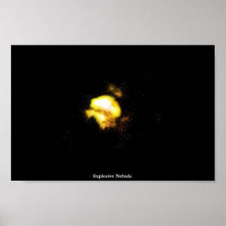 Explosive Nebula Poster