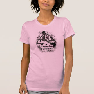 Explosive Substance! - Ladies Casual Scoop Warning T-Shirt