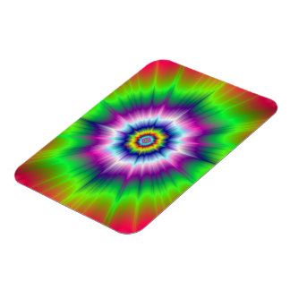 Explosive Tie-Dye Photo Magnet Rectangle Magnets