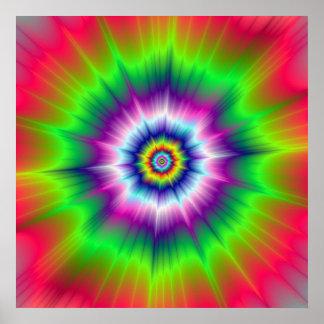 Explosive Tie-Dye Poster