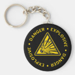 Explosive Warning Keychain