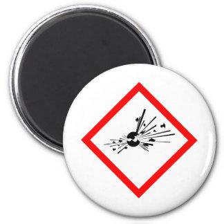 Explosive Warning Sign Magnet
