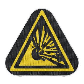 Explosive Warning Sign Speaker