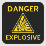 Explosive Warning Sign Sticker