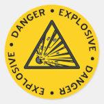 Explosive Warning Sticker