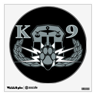 Explosives Detection K-9 Insignia Wall Decal